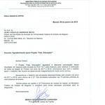 """Ministério Público do Estado de Alagoas agradece a participação da FANUT no projeto """"Fale, Educação!""""."""